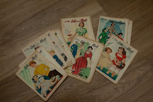 Collection de vieux magazine mode