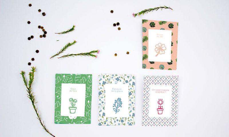Sachets de graines en papier à imprimer