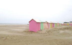 Berck Plage - cabines de plage pastels