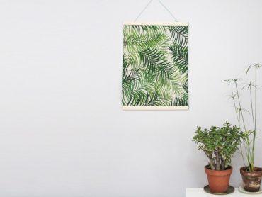 Affiche tropicale DIY en tissu très facile à faire