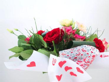 Emballage bouquet de fleurs DIY inspirés par Marie Claire Idées
