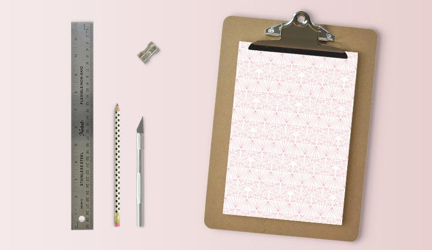 Motif coeur graphique printable pour vos créations