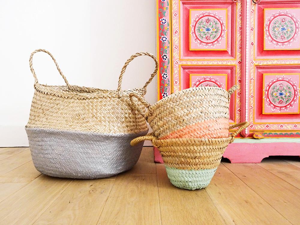 DIY : des paniers en osier colorés