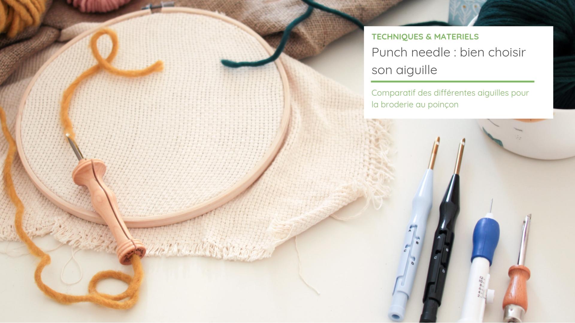 bon out x pas cher à vendre couleurs et frappant Punch needle : bien choisir son aiguille de broderie magique ...