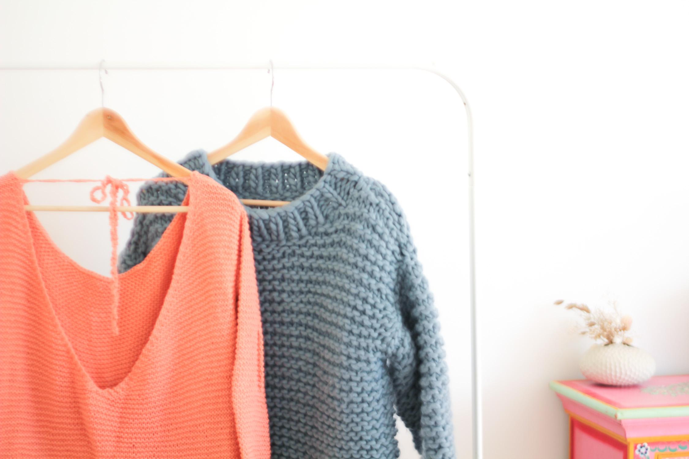 Pulls tricotés main