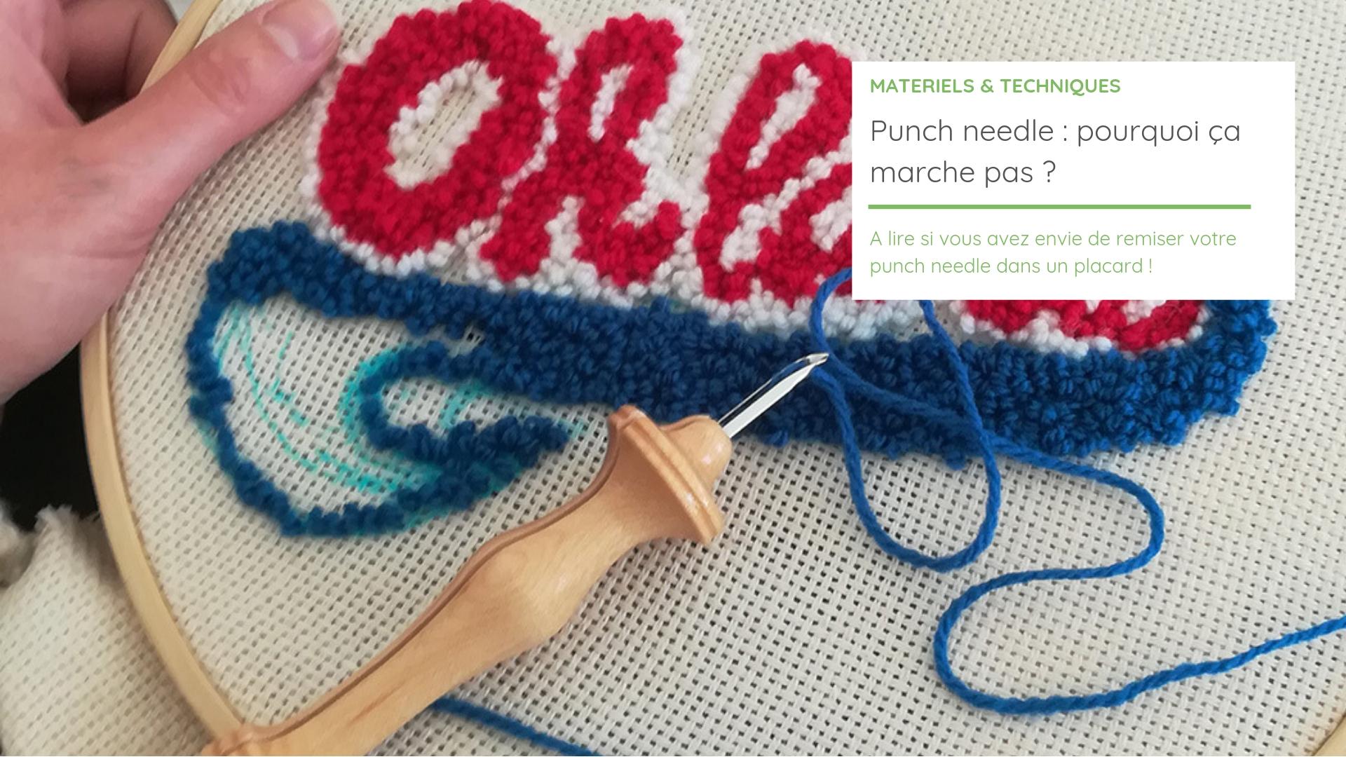 Comment Faire Un Tableau Avec Du Tissu 8 erreurs en punch needle à éviter pour réussir une broderie