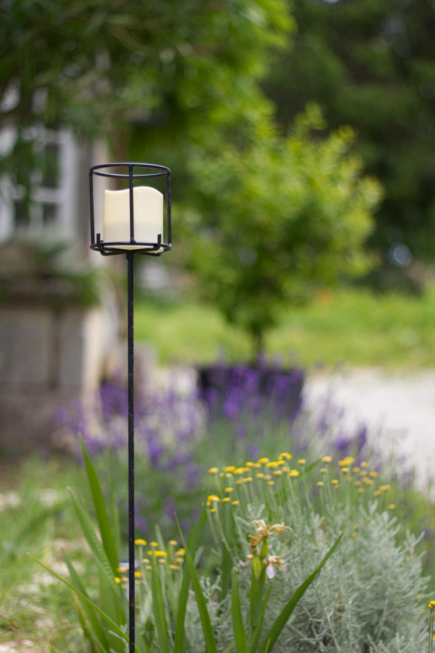 Bougeoir solaire sans pile pour le jardin