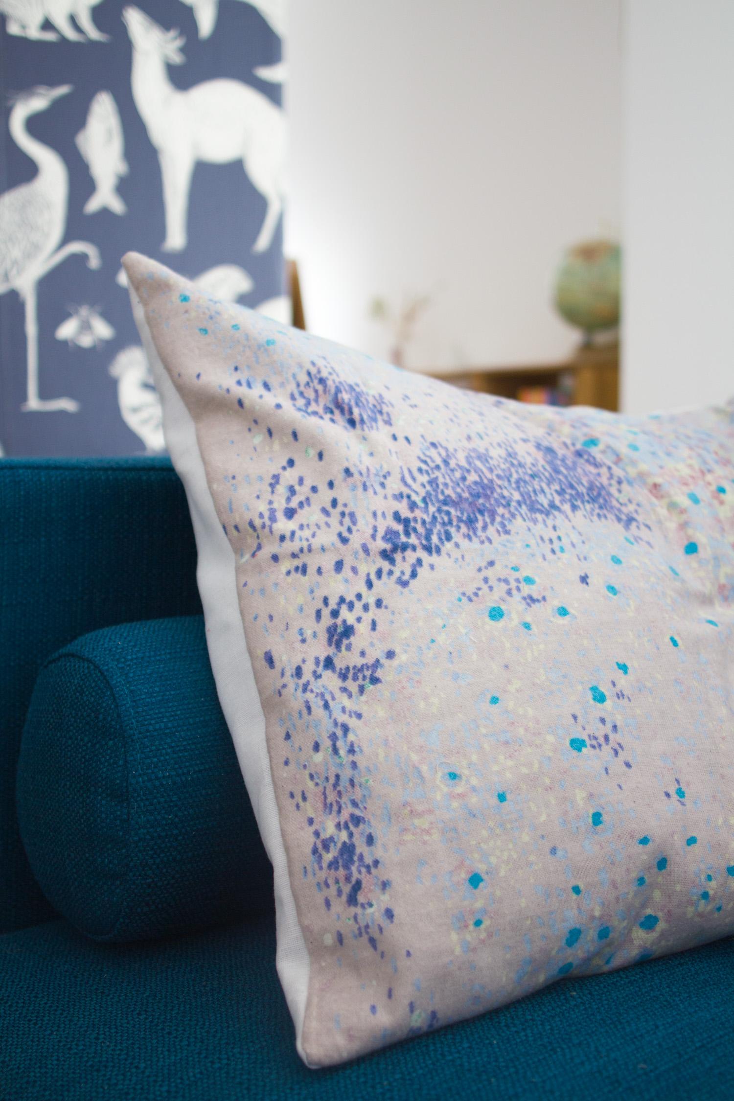 Coussin DIY avec tissu Nani Iro