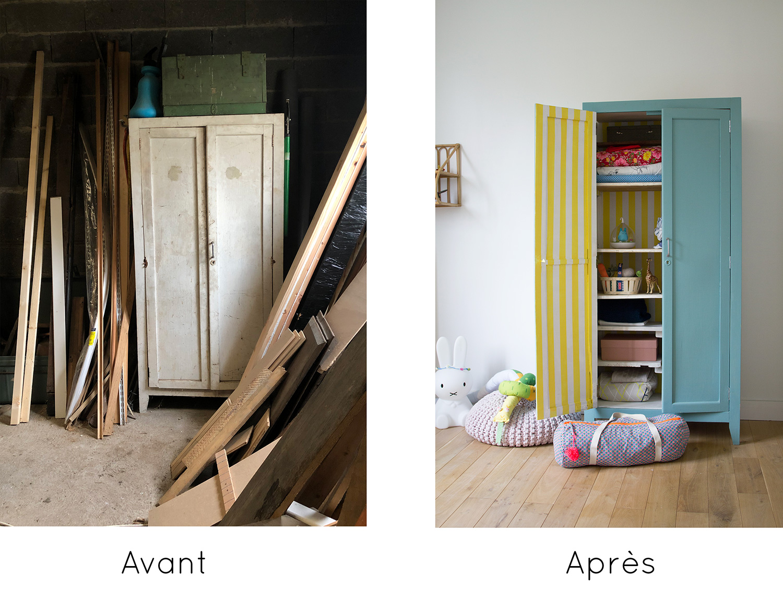 Rénovation d'une armoire parisienne : avant - après