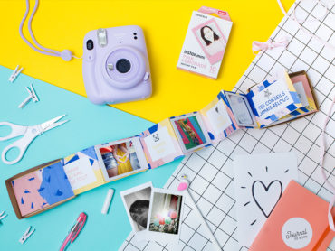 Boite photo surprise accordéon pour photos Instax