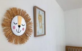 DIY Miroir soleil pour enfant à tête de lion