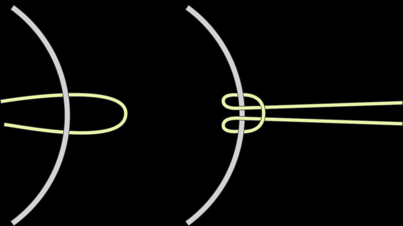 Macramé - faire un noeud coulant simple sur un cercle de métal