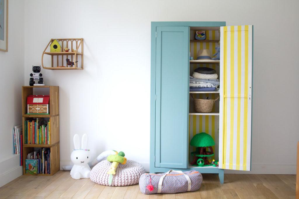 Armoire parisienne pour chambre d'enfant
