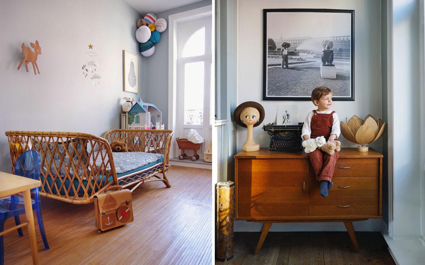 Kids : chambre vintage